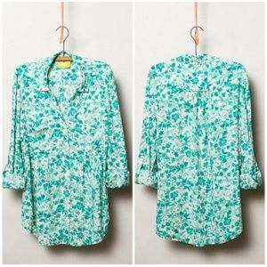 Anthropologie Maeve Islet Floral Button Down Shirt